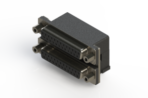 662-025-264-003 - Right-angle Dual Port D-Sub Connector