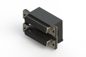 662-025-264-005 - Right-angle Dual Port D-Sub Connector