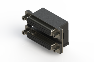 662-025-264-006 - Right-angle Dual Port D-Sub Connector