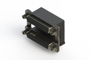 662-025-264-009 - Right-angle Dual Port D-Sub Connector