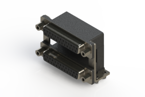 662-025-264-049 - Right-angle Dual Port D-Sub Connector