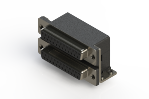 662-025-264-052 - Right-angle Dual Port D-Sub Connector