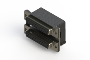 662-025-364-007 - Right-angle Dual Port D-Sub Connector