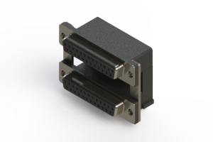 662-025-364-00A - Right-angle Dual Port D-Sub Connector