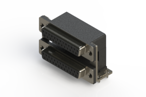662-025-664-035 - Right-angle Dual Port D-Sub Connector