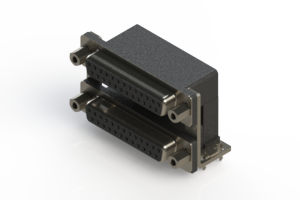 662-025-664-036 - Right-angle Dual Port D-Sub Connector