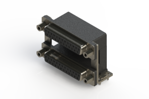 662-025-664-039 - Right-angle Dual Port D-Sub Connector