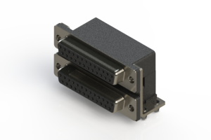 662-025-664-044 - Right-angle Dual Port D-Sub Connector