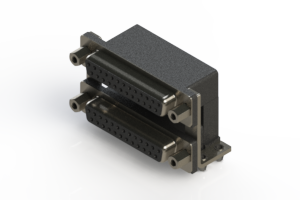 662-025-664-046 - Right-angle Dual Port D-Sub Connector