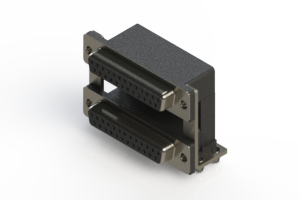662-025-664-04C - Right-angle Dual Port D-Sub Connector