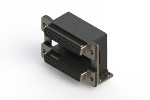 662-025-664-050 - Right-angle Dual Port D-Sub Connector