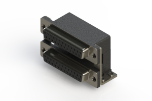 662-025-664-055 - Right-angle Dual Port D-Sub Connector