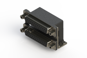 662-025-664-056 - Right-angle Dual Port D-Sub Connector
