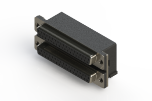 662-037-264-001 - Right-angle Dual Port D-Sub Connector