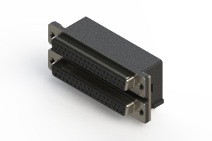 662-037-264-002 - Right-angle Dual Port D-Sub Connector