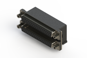 662-037-264-003 - Right-angle Dual Port D-Sub Connector
