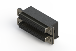 662-037-264-004 - Right-angle Dual Port D-Sub Connector