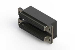 662-037-264-005 - Right-angle Dual Port D-Sub Connector