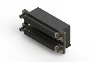662-037-264-006 - Right-angle Dual Port D-Sub Connector