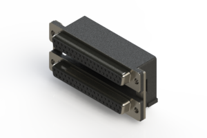 662-037-264-007 - Right-angle Dual Port D-Sub Connector