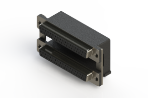 662-037-264-008 - Right-angle Dual Port D-Sub Connector