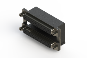 662-037-264-009 - Right-angle Dual Port D-Sub Connector