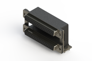 662-037-264-030 - Right-angle Dual Port D-Sub Connector