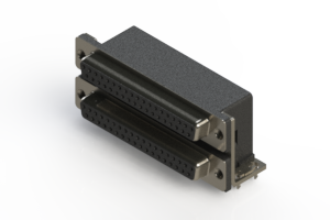 662-037-264-032 - Right-angle Dual Port D-Sub Connector