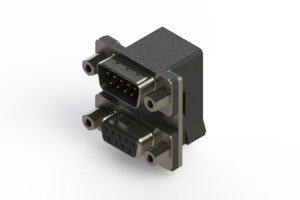 663-009-264-006 - Right-angle Dual Port D-Sub Connector