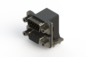 663-009-264-033 - Right-angle Dual Port D-Sub Connector