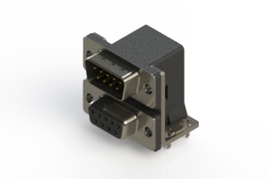 663-009-264-034 - Right-angle Dual Port D-Sub Connector