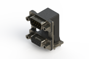 663-009-264-039 - Right-angle Dual Port D-Sub Connector