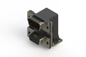 663-009-264-055 - Right-angle Dual Port D-Sub Connector
