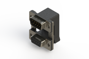 663-009-364-00C - Right-angle Dual Port D-Sub Connector