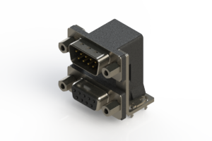 663-009-364-036 - Right-angle Dual Port D-Sub Connector