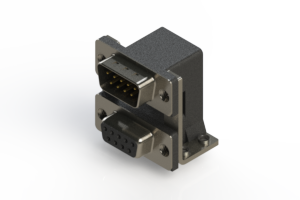 663-009-364-055 - Right-angle Dual Port D-Sub Connector