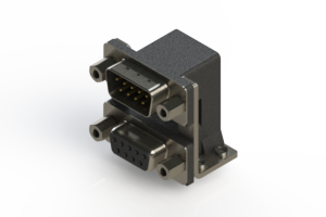 663-009-364-056 - Right-angle Dual Port D-Sub Connector