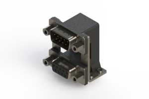 663-009-364-059 - Right-angle Dual Port D-Sub Connector