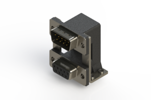 663-009-364-05A - Right-angle Dual Port D-Sub Connector