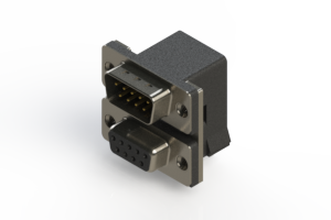 663-009-664-001 - Right-angle Dual Port D-Sub Connector