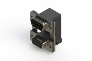663-009-664-00C - Right-angle Dual Port D-Sub Connector