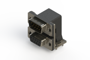 663-009-664-031 - Right-angle Dual Port D-Sub Connector