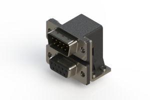 663-009-664-054 - Right-angle Dual Port D-Sub Connector