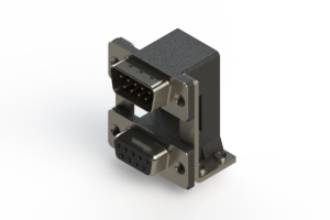 663-009-664-058 - Right-angle Dual Port D-Sub Connector