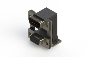 663-009-664-05C - Right-angle Dual Port D-Sub Connector