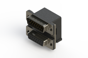 663-015-264-005 - Right-angle Dual Port D-Sub Connector