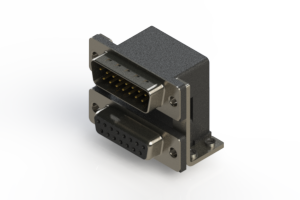 663-015-264-057 - Right-angle Dual Port D-Sub Connector