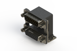 663-015-264-059 - Right-angle Dual Port D-Sub Connector