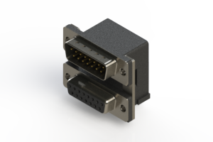 663-015-364-007 - Right-angle Dual Port D-Sub Connector