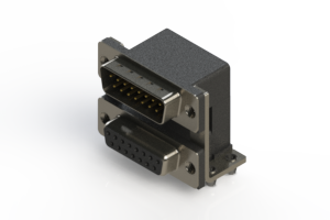 663-015-364-045 - Right-angle Dual Port D-Sub Connector